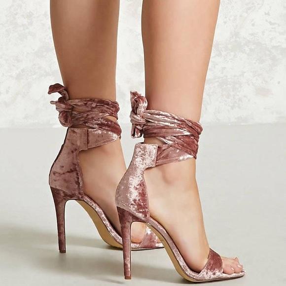 8bba4fef75a8 Fashion Nova Shoes - Fashion Nova Pink Crushed Velvet Heels